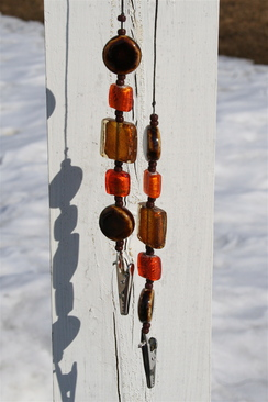 Photo of Beaded number holders (autumn)