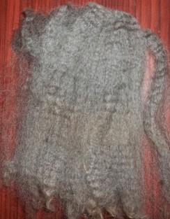 Photo of GREY Huacaya Fiber...Sorted GRADE 1