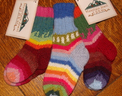 Photo of Reversible Handknit Baby Alpaca Socks