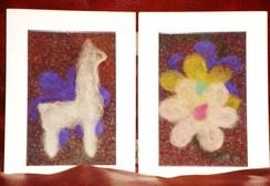 Photo of Alpaca Fiber Art - Alpaca in the Flowers