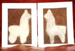"Photo of Alpaca Fiber Art - Alpaca ""He and She"""