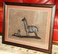 Photo of Alpaca Fiber Art - Mom & Cria