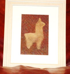 Photo of Alpaca Fiber Art - Fawn Alpaca
