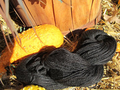 Photo of True Black Alpaca Yarn
