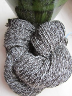 Photo of Bay Black Tweed Pure Alpaca Yarn