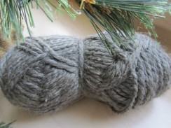 Photo of Bulky Silver Grey Pure Alpaca Yarn