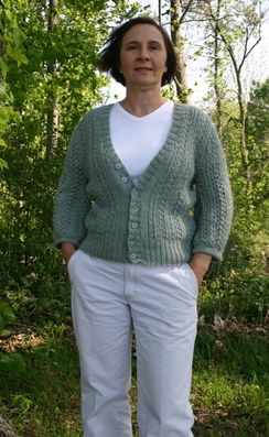 Photo of Lacy Sage Sweater