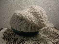 Photo of White Woman's Crochet Hat