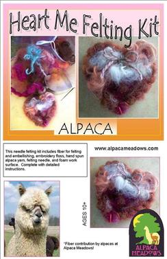 Photo of Alpaca Heart Felting Kit
