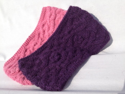 Photo of Headband - Cable Knit Purple only