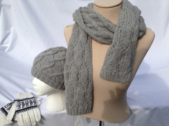 Photo of Scarf - Grey Soft Cable