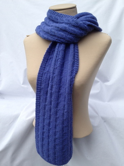 Photo of Scarf - Blue Cable