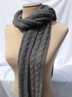 Photo of Scarf - Grey Cable