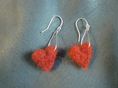 Photo of Alpaca Fiber Art - Felted Earrings