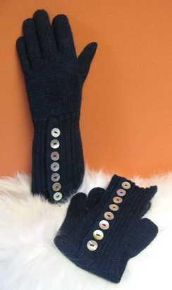 Photo of Long Button Gloves