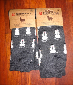 Photo of Alpaca Snowmen Socks