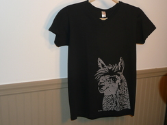 Photo of Tee Shirt Alpaca Silhouette