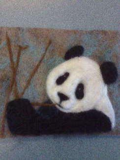 Photo of Needle-felted panda bear  SOLD