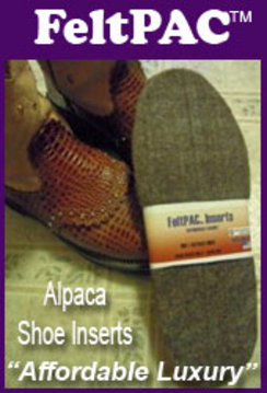 Photo of FeltPAC Alpaca Shoe Inserts