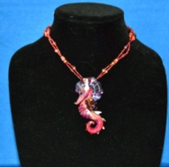 Photo of Red Lampwork Seahorse Necklace