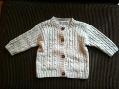 Photo of Cotton Cable sweater 0-6 mo, 12 mo