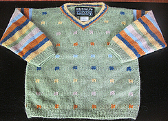 Photo of Alpaca geo v-neck sweater 0-6 mon, 12 mo