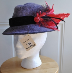Photo of Hat- Felted Purple Alpaca