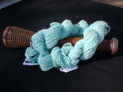 Photo of Aqua Paca Hand Spun Hand Dyed Yarn