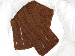 Photo of Fancy Alpaca Scarf-SOLD