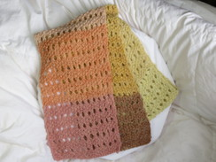 Photo of Dyed multi-coloured alpaca scarf