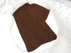 Photo of Dk brown Alpaca scarf - SOLD