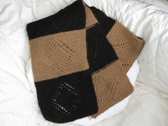 Photo of Black/fawn Alpaca diamond scarf