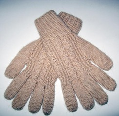 Photo of Gloves w/Cable Stitching - Item #CA104T