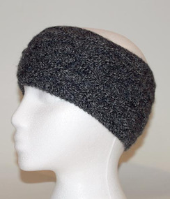 Photo of Cable-Knit Alpaca Headband - #4