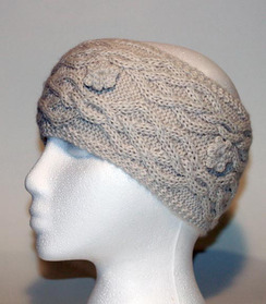 Photo of Cable-Knit Alpaca Headband - #6