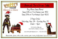 Annual Christmas Sale - November 24 & 25, 10am - 4pm