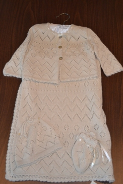 Photo of 4 Piece Layette Set 70% Alpaca, 30% Silk