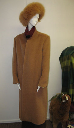 Photo of Princess Long Diagonal Suri Alpaca Coat