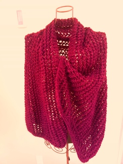 Photo of Alpaca Cranberry Shawl