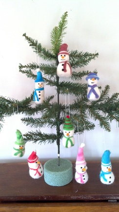 Photo of Snowman Ornaments (hats)