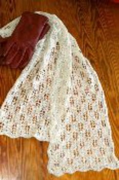 Photo of Pine Cone Lace Scarf Knitting Pattern