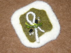 Photo of Pin - creme and olive green