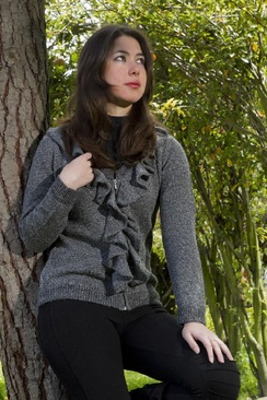 Photo of Alissa Ruffle Front Cardigan