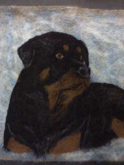 Photo of Rottweiler - needle felted   SOLD