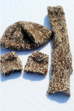Photo of Child's Hat, Scarf, & Fingless Mittens