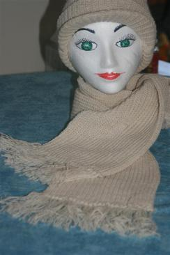 Photo of 100% AMERICAN ALPACA RIBBED SCARVES