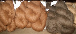 Photo of Alpaca Yarn Dark Brown and Medium Brown