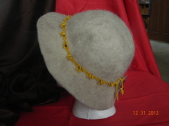 Photo of Sunflower trim felted hat