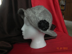 Photo of stylish grey felted hat