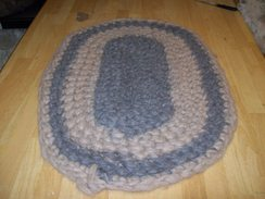 Photo of Crochet and Felted Alpaca Rug #3